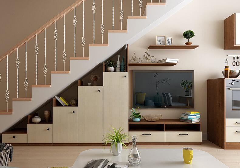 樓梯間電視柜